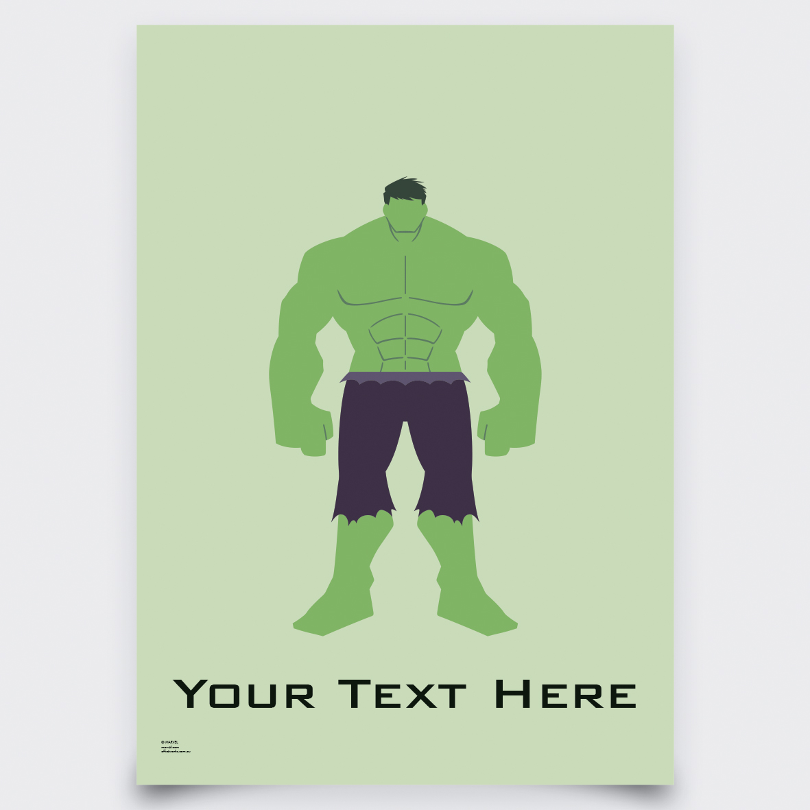 Avengers - Pop Art Hulk: Personalised