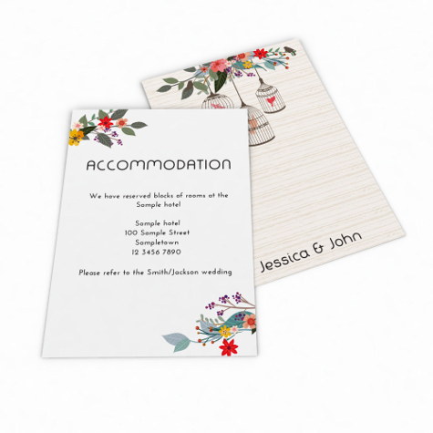 Main product image for Accommodation & Information Cards